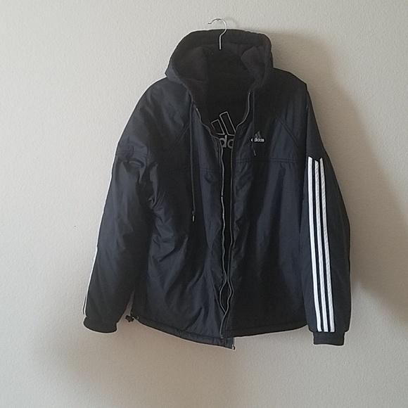 d63195fbc1fb adidas Other - Adidas Black Reversible Coat Mens XXL